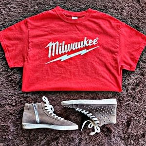 MD red Milwaukee graphic tshirt
